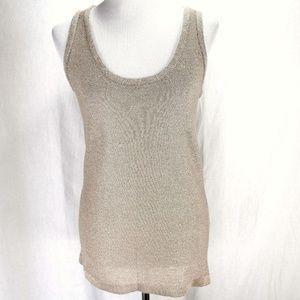 Calvin Klein Sweater Knit Tank Top Gold Linen